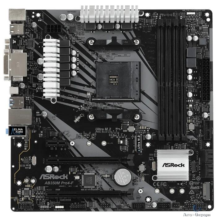 Asrock AB350M PRO4-F {AM4, AMD B350, mATX} BOX