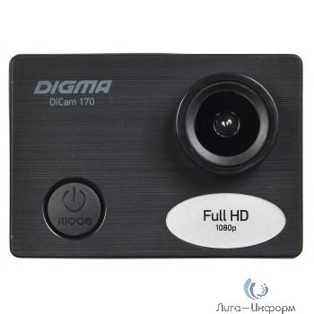 Экшн-камера Digma DiCam 170 черный (возможность работы в режиме Web камеры)