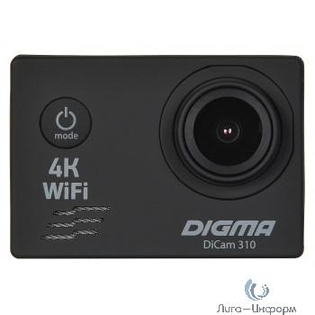 Экшн-камера Digma DiCam 310 черный (возможность работы в режиме Web камеры)