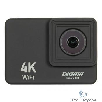 Экшн-камера Digma DiCam 800 черный (возможность работы в режиме Web камеры)