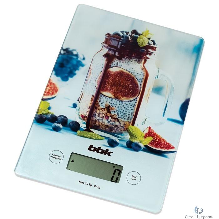 BBK KS102G (A) Весы кухонные, лазурный