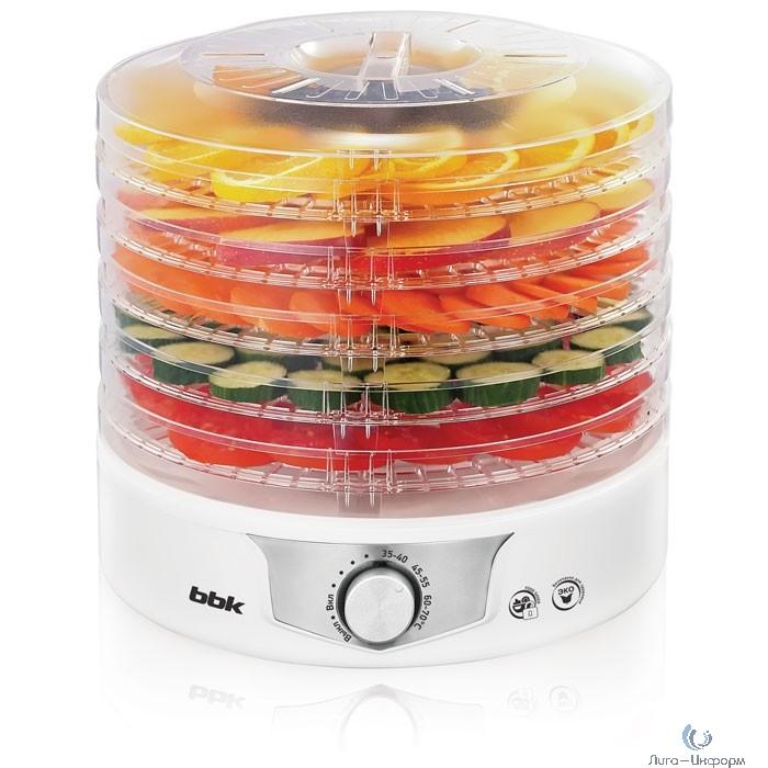 BBK BDH301M (W/S) Сушилка для овощей и фруктов, белый, 5 поддонов
