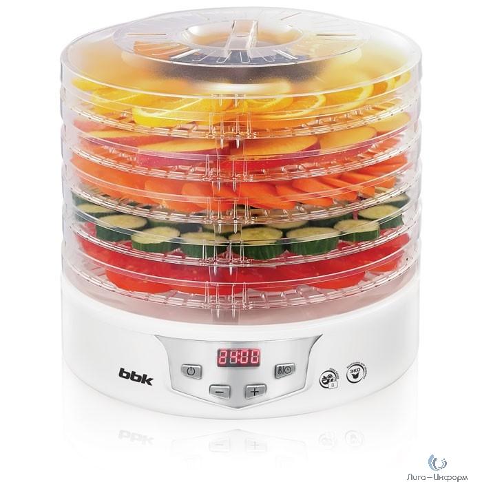 BBK BDH305D (W/S) Сушилка для овощей и фруктов, белый, 5 поддонов