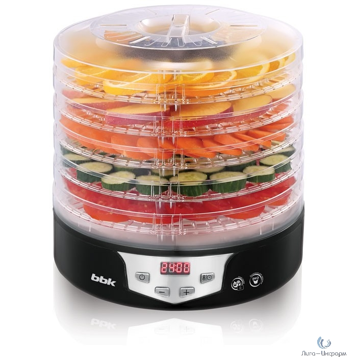 BBK BDH305D (B/M) Сушилка для овощей и фруктов, черный, 5 поддонов