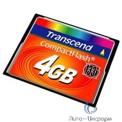 Compact Flash 4Gb Transcend  (TS4GCF133) 133-x