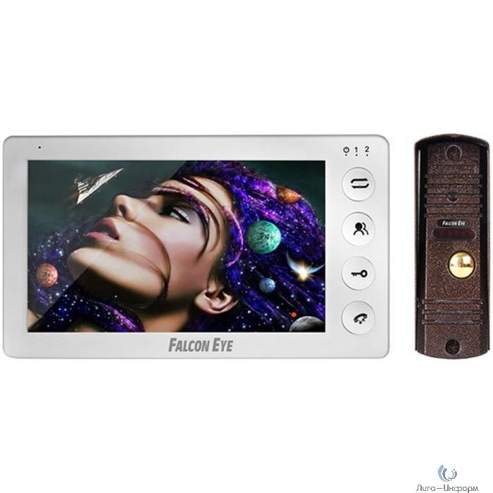 """Falcon Eye KIT- Cosmo Комплект. Видеодомофон: дисплей 7"""" TFT;  механические кнопки; подключение до 2-х вызывных панелей; OSD меню; питание AC 220В (встроенный БП)"""