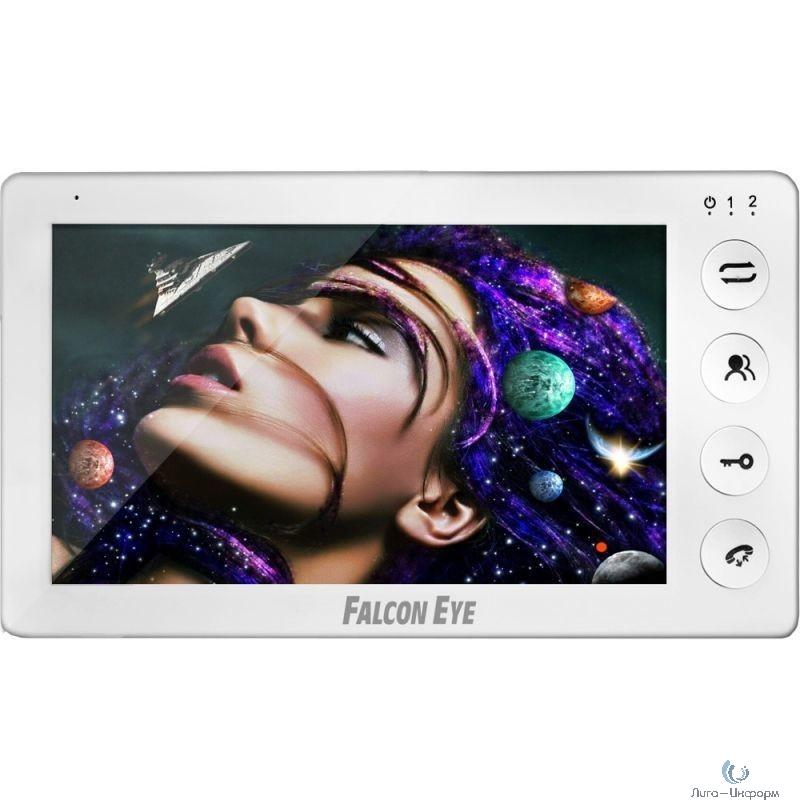 """Falcon Eye Cosmo HD Видеодомофон: дисплей 7"""" TFT; механические кнопки; подключение до 2-х вызывных панелей (разрешение до 2мп); OSD меню; интерком до 4 мониторов; питание AC 220В (встроенный БП)"""