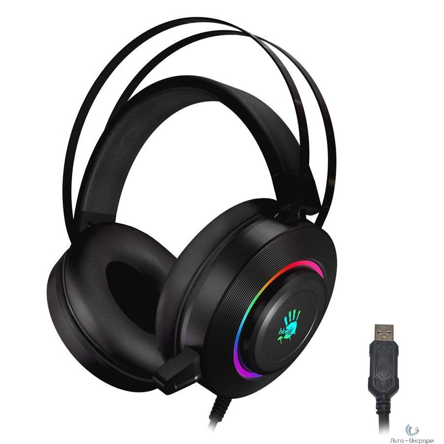 A4 Bloody G521 черный 2.3м мониторные USB оголовье (G521 (BLACK))