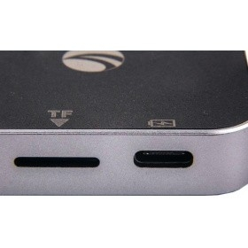 VCOM CU457 Адаптер USB3.1 Type-CM--> HDMI+USB3.0+PD charging, TF, Aluminum Shell, VCOM  < CU457>