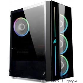 1STPLAYER B7-A-4M2 Корпус BLACK.SIR B7-A / ATX, tempered glass / 4x 120mm RGB fans inc. / B7-A-4M2