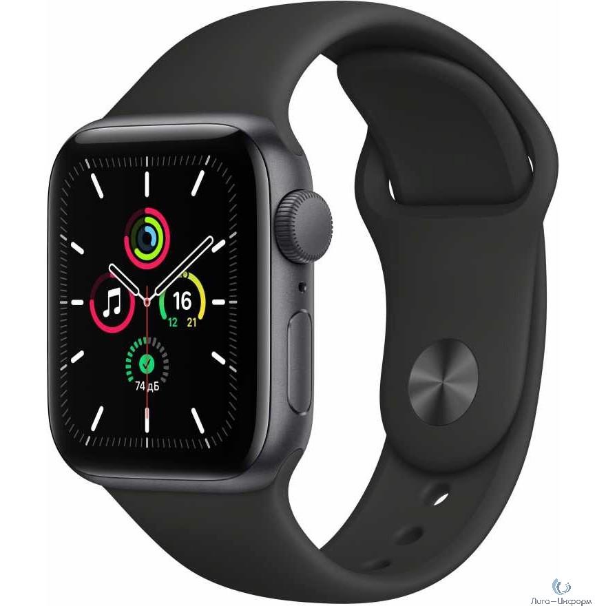 Apple Watch SE GPS, 40mm Space Gray Aluminium Black Sport Band [MYDP2RU/A]