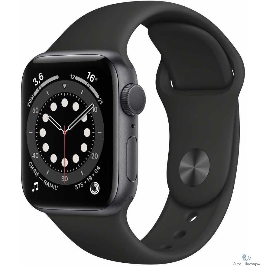 Apple Watch Series 6 GPS, 40mm Space Gray Aluminium Black Sport Band [MG133RU/A]