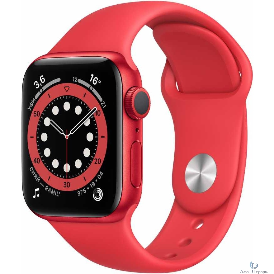 Apple Watch Series 6 GPS, 40mm PRODUCT(RED) Aluminium Case with PRODUCT(RED) Sport Band [M00A3RU/A]