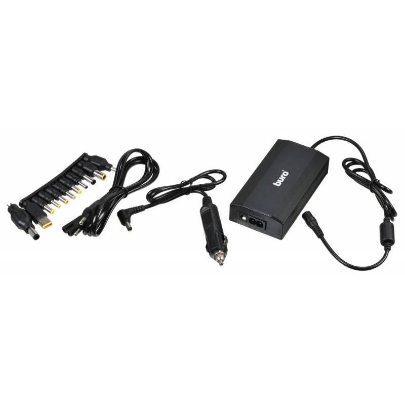 BURO Блок питания ручной 65W 12V-24V 11-connectors 3.2A 1xUSB 0.6A от бытовой электросети/<wbr>от прикуривателя (BUM-0031T65)