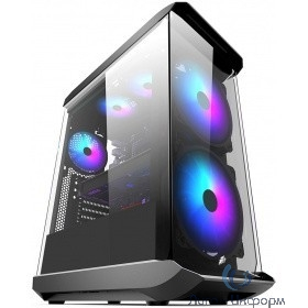 1STPLAYER X8 Корпус FIREBASE X8 / ATX, tempered glass, RGB fans controller & remote / 2x 200mm & 1x 120mm RGB fans inc. / X8