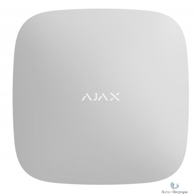 AJAX 14910.40.WH1 Смарт-центр Ajax Hub 2 с Ethernet, 2xSIM-карты и фотоверификацией тревог, белый