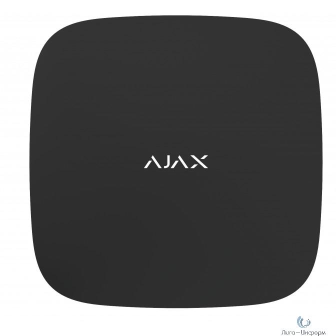 AJAX 14909.40.BL1 Смарт-центр Ajax Hub 2 с Ethernet, 2xSIM-карты и фотоверификацией тревог, чёрный