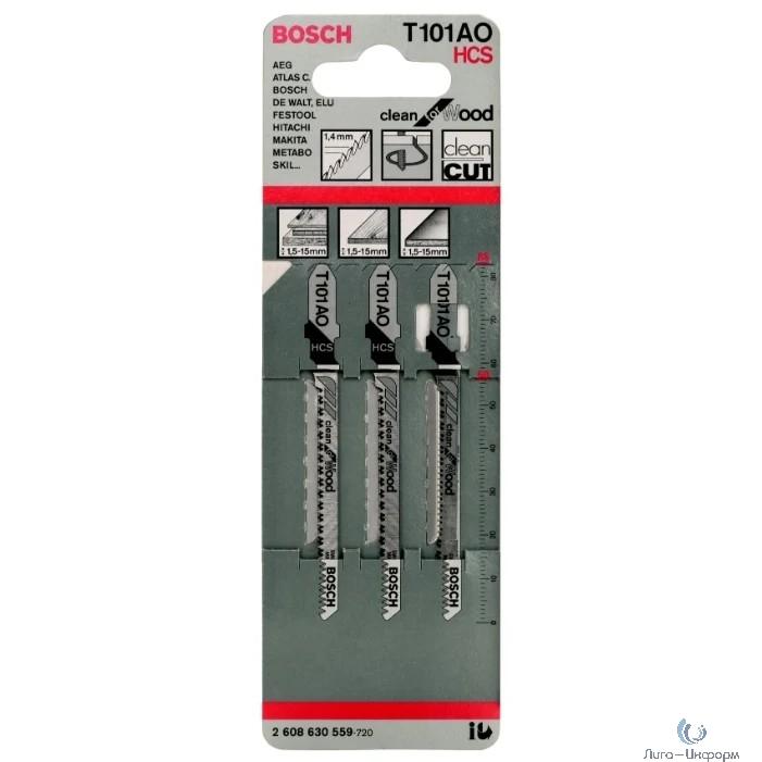 Bosch 2608630559 3 ЛОБЗИКОВЫЕ ПИЛКИ T 101 A О, HCS