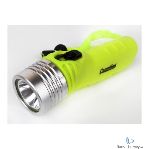 Camelion LED51534 (фонарь, желт, LED 3W SEOUL  глуб 30м, 4xLR6, дайвинг, пласт+алюм., блистер)