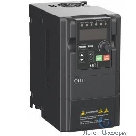 IEK A150-33-15NT Преобразователь частоты A150 380В 3Ф 1,5кВт 5А со встроенным тормозным модулем ONI