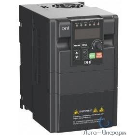 IEK A150-33-22NT Преобразователь частоты A150 380В 3Ф 2,2кВт 6А со встроенным тормозным модулем ONI