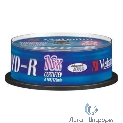43655 Диски DVD-R Verbatim 16x, 4.7Gb (Slim Case, 10шт.)