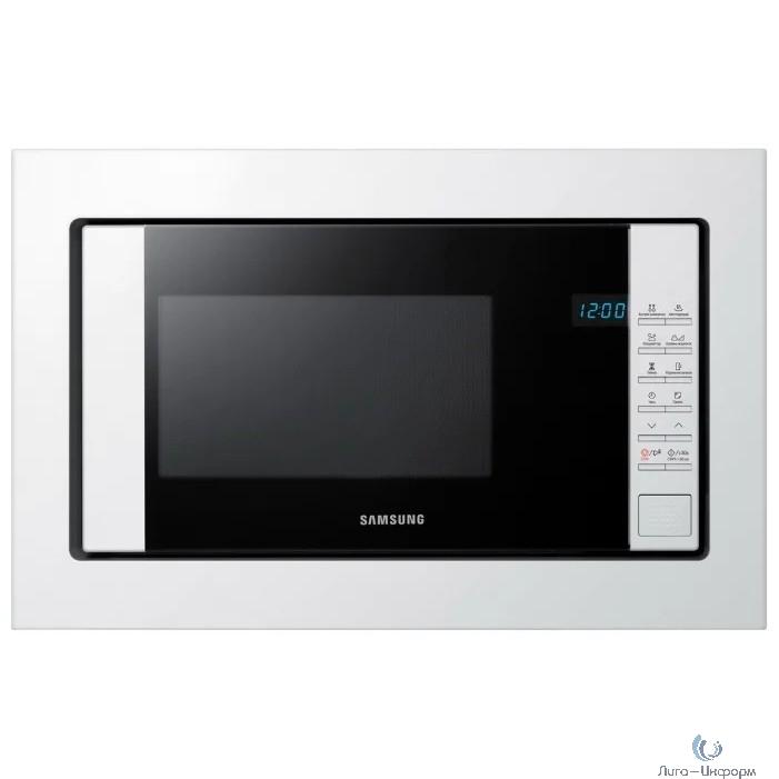 Микроволновая печь Samsung FW77SUW/BW 20л. 850Вт белый/черный (встраиваемая)
