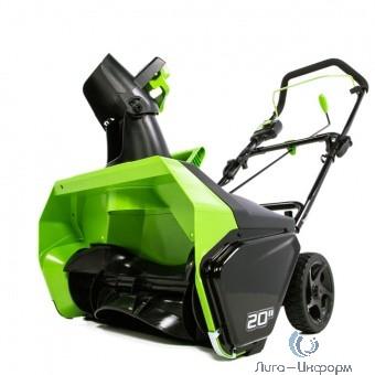 Greenworks 60В Снегоуборщик, б/щ {без аккумуляторной батареи и зарядного устройства} [2602407]