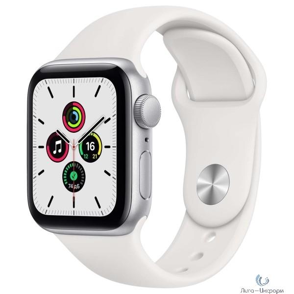Apple Watch SE GPS, 40mm Silver Aluminium Case with White Sport Band [MYDM2RU/A]