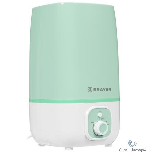 BRAYER 4700BR-GN Увлажнитель ультразвуковой  4 л, 25 м, 13 ч., регулировка интенсивности, аромат.