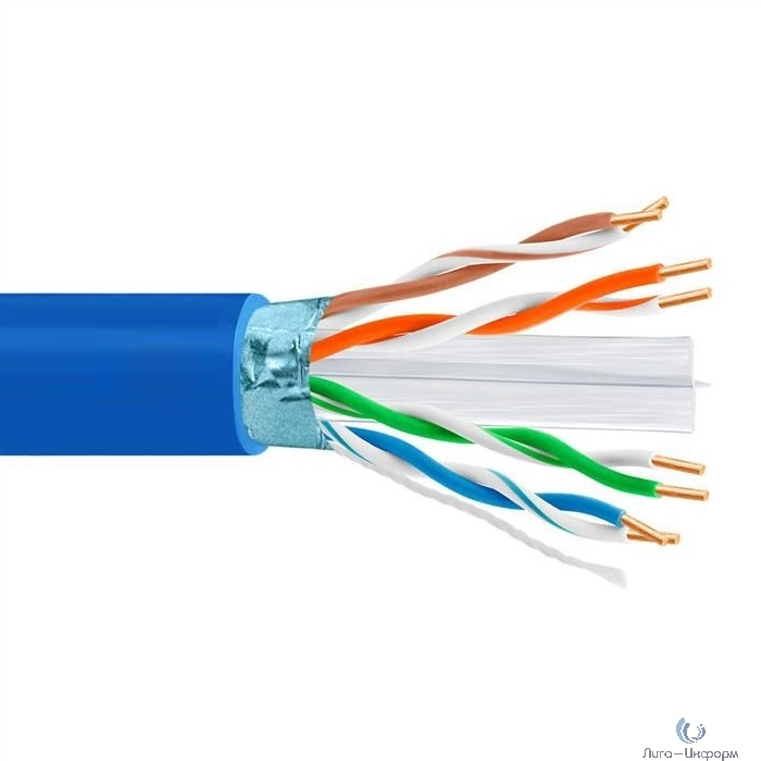5bites FS6575-305A-BL Кабель  FTP / SOLID / 6CAT / 23AWG / CCA / PVC / BLUE / 305M