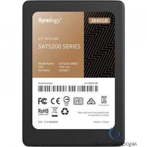 """'Synology [SAT5200-3840G] 3.84Tb SSD SAT5200 Series SATA 2,5"""" R530/W500Mb/s, IOPS 98K/58K, MTBF 1,5M'"""
