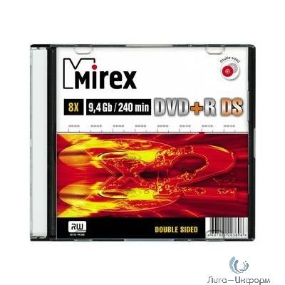 Mirex Диск DVD+R 9.4 Gb, 8x, Slim Case (10), Double Side (10/200) (UL130042A8X0)