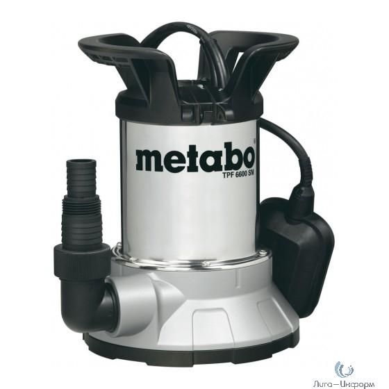 Metabo TPF 6600 SN Насос погр[0250660006] { 450Вт,6600л/ч,6м,попл,нерж }