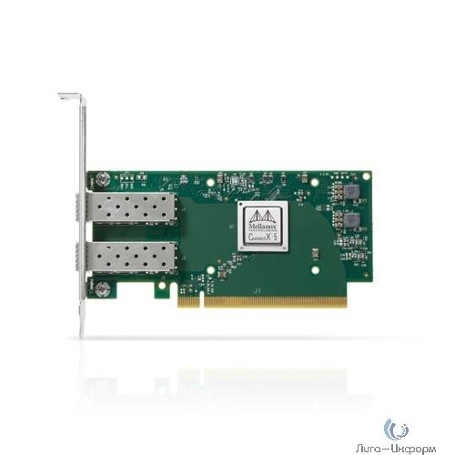 Mellanox ConnectX-5 EN network interface card, 25GbE Dual-port SFP28, PCIe3.0 x16, tall bracket