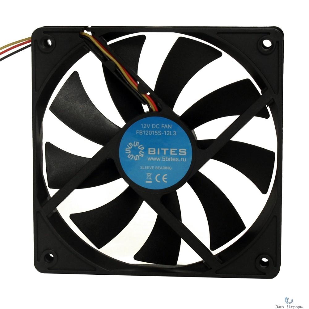 5bites Вентилятор FB12015S-12L3 120X15 / SLEEVE / 1200RPM / 3P