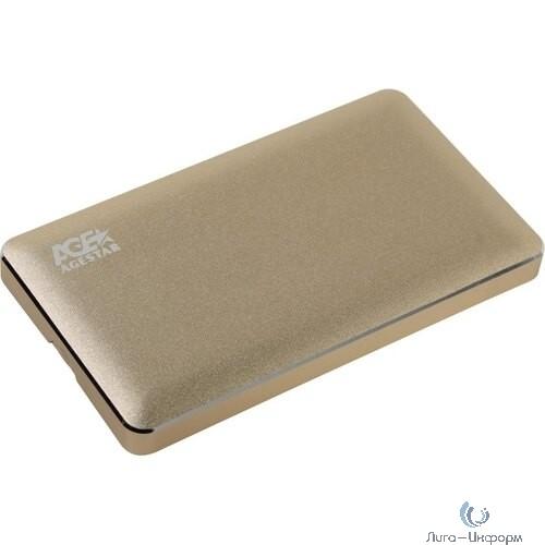 "AgeStar 31UB2A16C Внешний корпус для HDD  SATA алюминий золотистый 2.5"" [408428]"