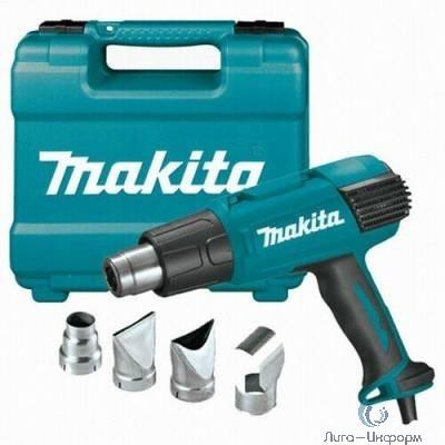 Makita HG651CK Пистолет горячего воздуха [HG6530VK] { 2000Вт,280-550л\м, 50\650 грС,чем,0.6кг,4 насадки }