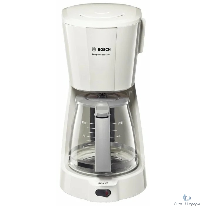 BOSCH (TKA3A031) Кофеварка, капельная,1100 Вт,1,25л  белый