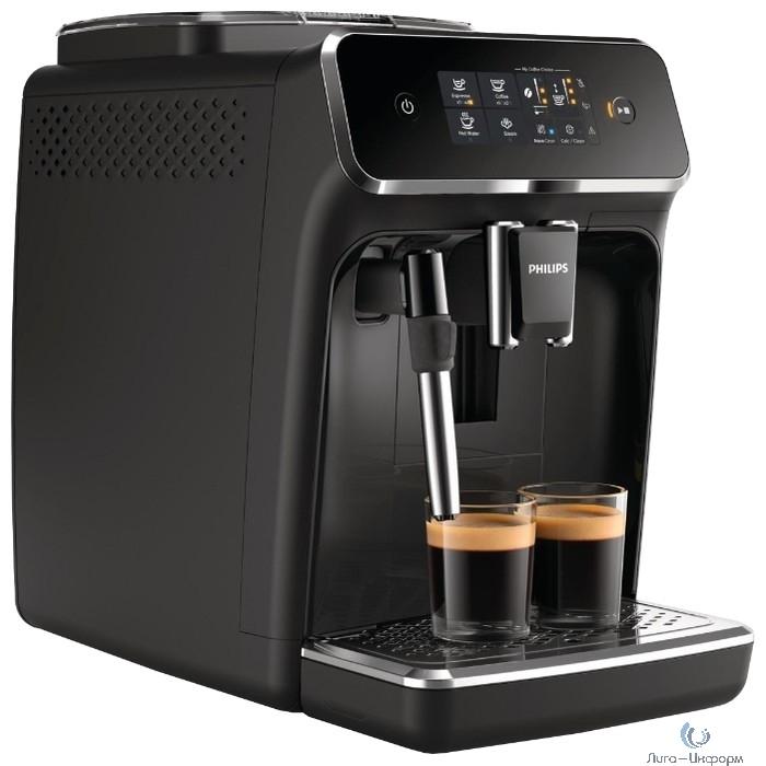 PHILIPS (EP2224) Кофемашина, 1500Вт черный/серебристый