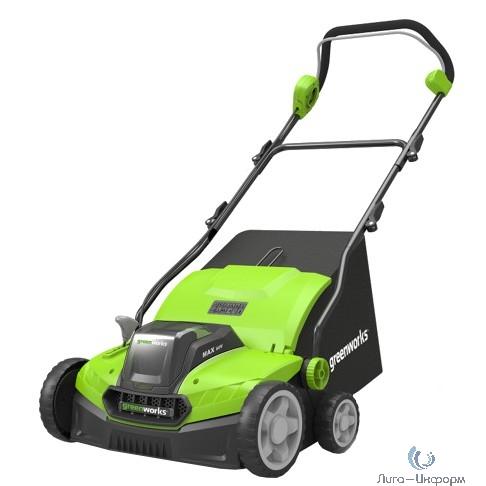 Greenworks Аэратор-скарификатор аккумуляторный Greenworks GD40SC36, 40V, бесщеточный, c АКБ 4АЧ и ЗУ [2511507UB]