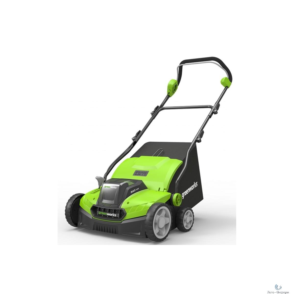 Greenworks Аэратор-скарификатор аккумуляторный Greenworks GD40SC36, 40V, бесщеточный, с АКБ 6АЧ и ЗУ [2511507UF]