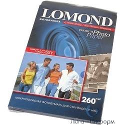 1103104  LOMOND  Суперглянцевая фотобумага 1х260 г/м2, А5, 20л (210х148мм)