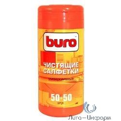 BURO BU-Tmix [817437] Чистящие салфетки 65шт влажных+ 65шт. сухих