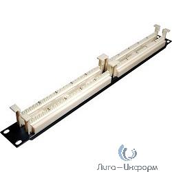 """Hyperline 110C-19-100P-1U 100 парная кросс-панель 110 типа, 19"""" 1U (без модулей)"""