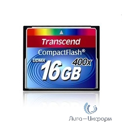 Compact Flash 16Gb Transcend, High Speed (TS16GCF400) 400-x
