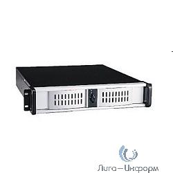 """Procase AE280-B-0 черный {2U глубина 480мм, внешн 1x5.25, 1x3.5, внутр 2xHDD, MB 12""""x9.6"""", без Б/П PS2}"""