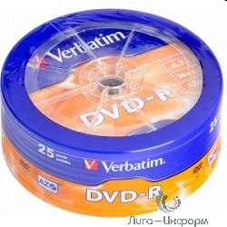 43730 Диски DVD-R Verbatim 4.7Gb 16-х, 25шт. Shrink