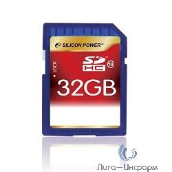 SecureDigital 32Gb Silicon Power SP032GBSDH010V10 {SDHC Class 10}