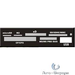 "USB 2.0 Card reader SD/SDHC/MMC/MS/microSD/xD/CF, 3.5"" (черный) [GR-136UB]"